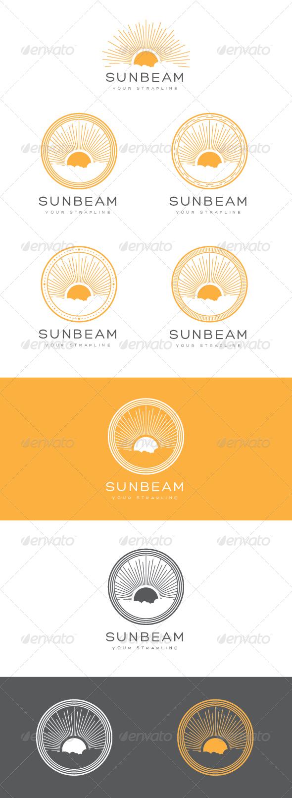 GraphicRiver Sunbeam Emblem Logo Set 6841759