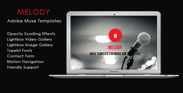 Melody - Music And Band Theme - Creative Muse Templates