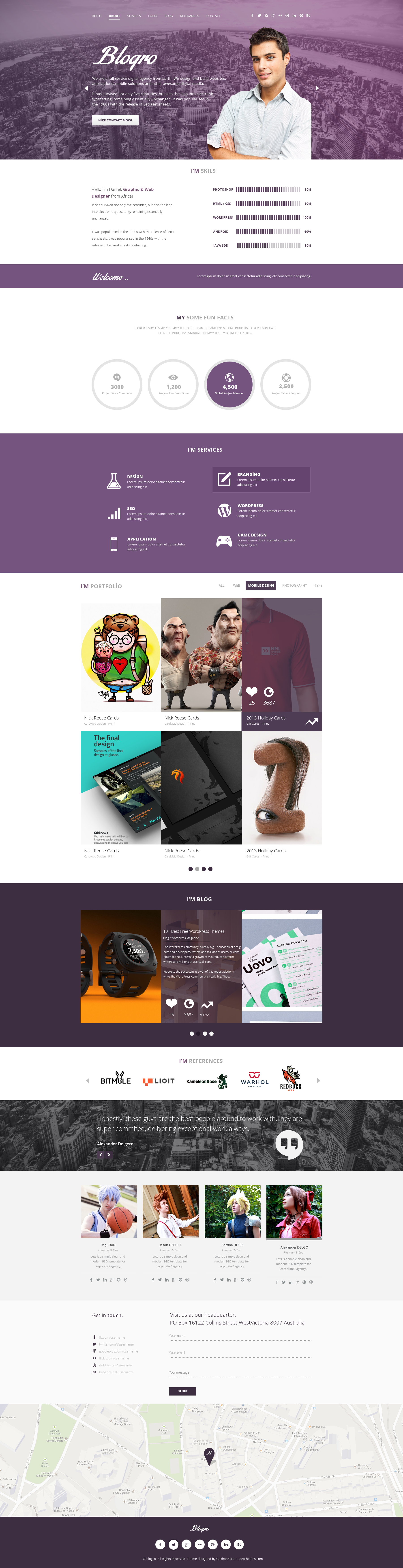 Blogro One Page Personal Web Design By Gokhankara