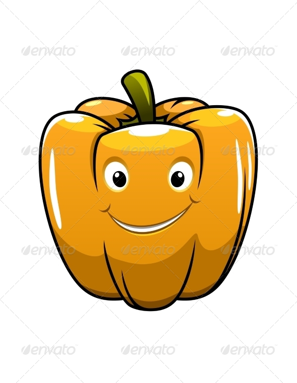 GraphicRiver Smiling Orange Cartoon Pepper 6842177