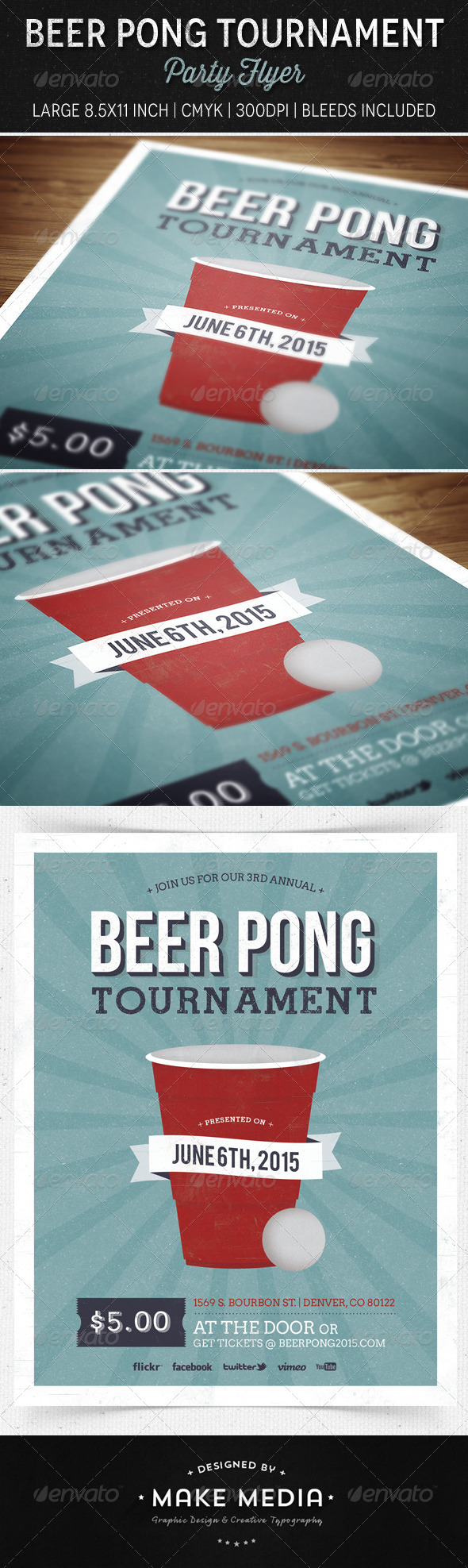 GraphicRiver Beer Pong Party Flyer 6842178