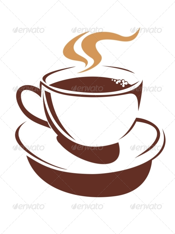 GraphicRiver Hot Cup of Steaming Coffee or Tea 6842190