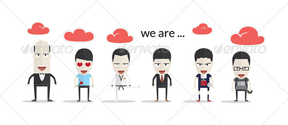 GraphicRiver We are Flat Character 6843025