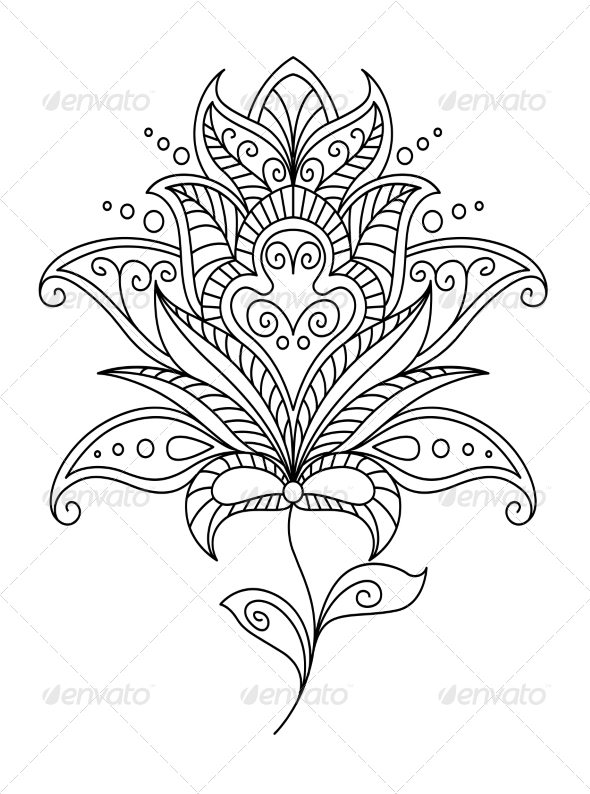 GraphicRiver Intricate Floral Design Element 6843060