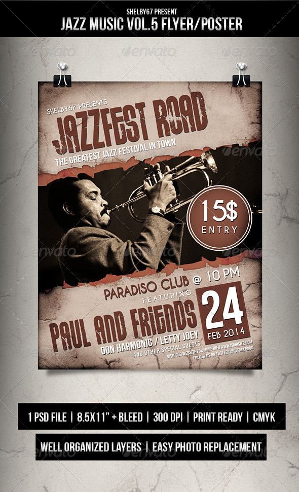 Jazz Music Flyer Poster Vol 5