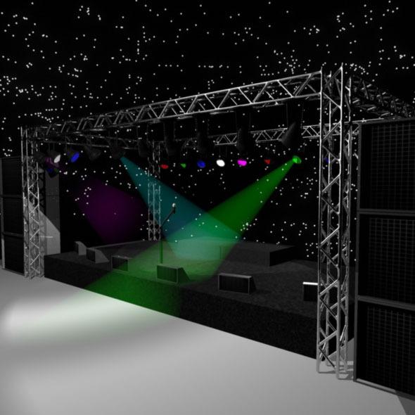 Rock Stage 3D Model