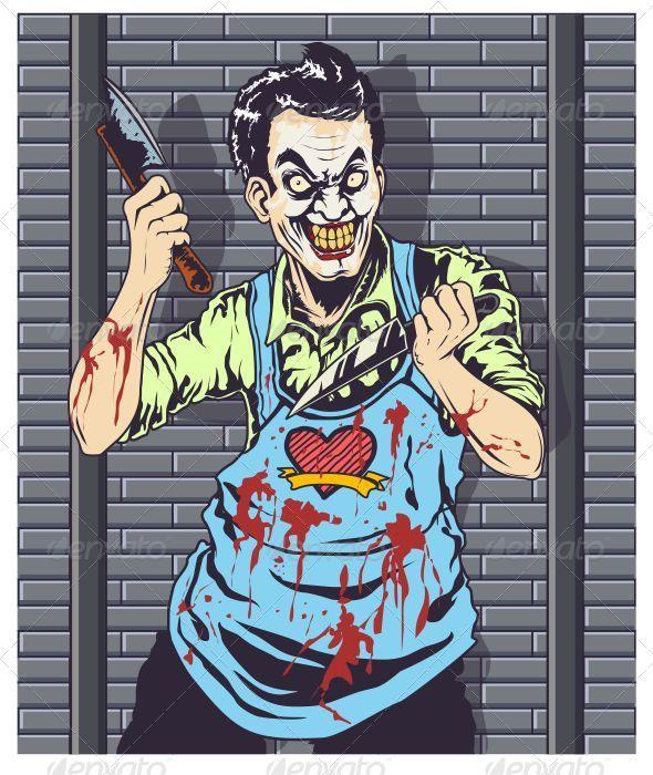 GraphicRiver Butcher Clown Vector 6843409