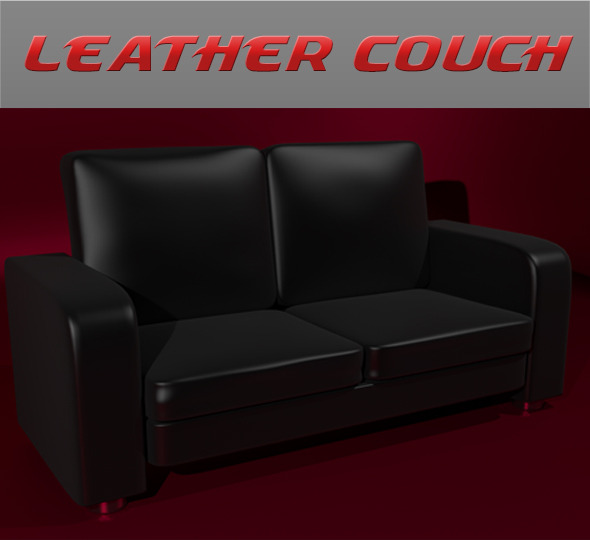 3DOcean Leather Couch 6844014