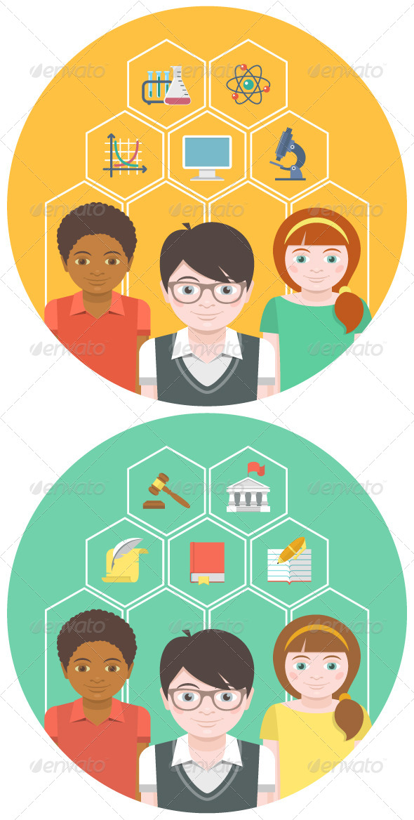 GraphicRiver Children and School Subjects 6844361