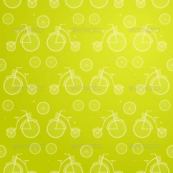 Vintage Bicycle Seamless Vector Background