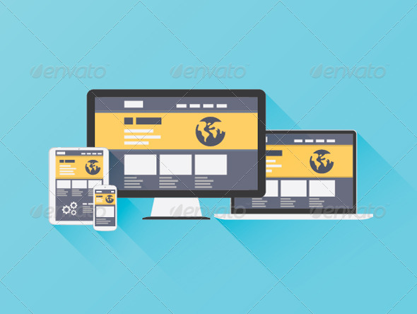 GraphicRiver Flat Illustration of Website Coding 6827856