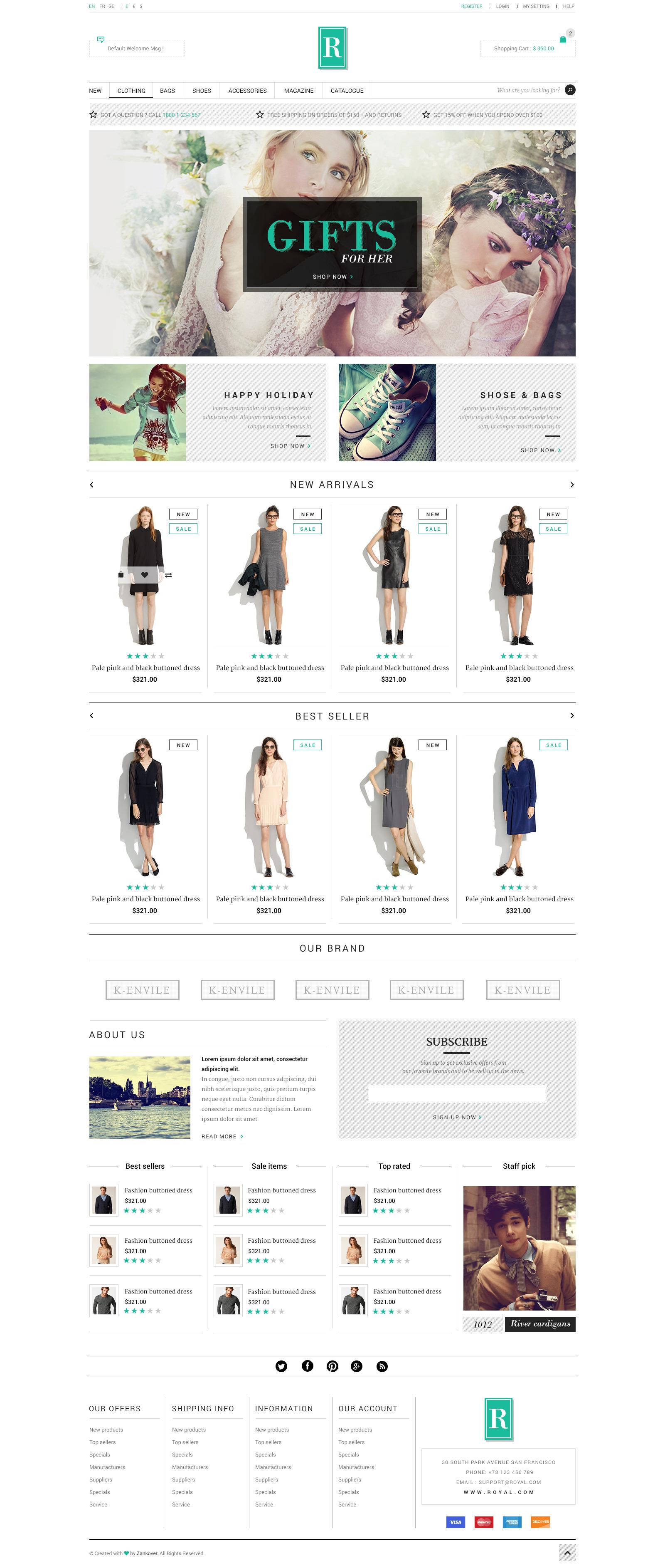 Royal  E-Commerce PSD Template