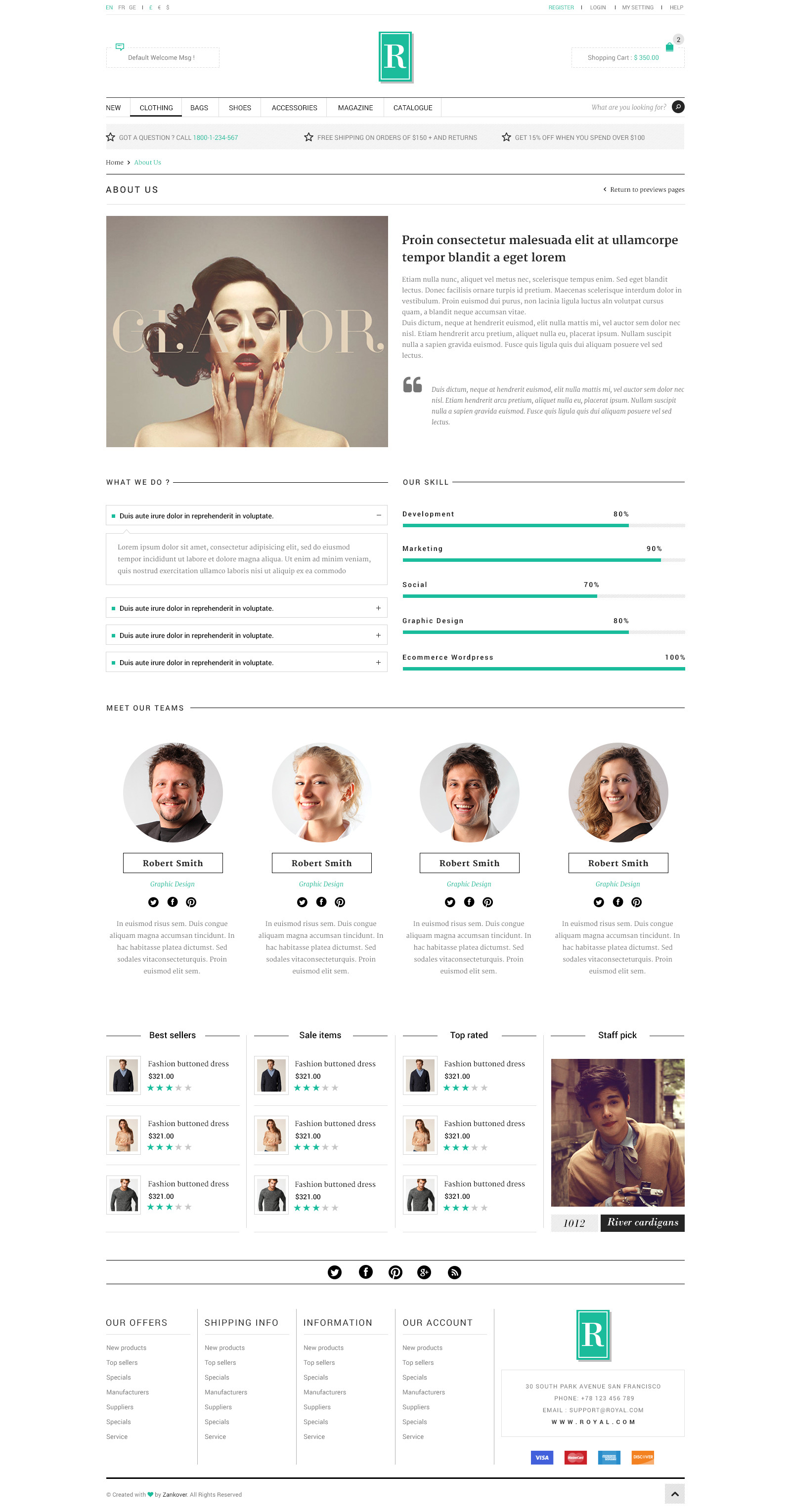 Royal  E-Commerce PSD Template