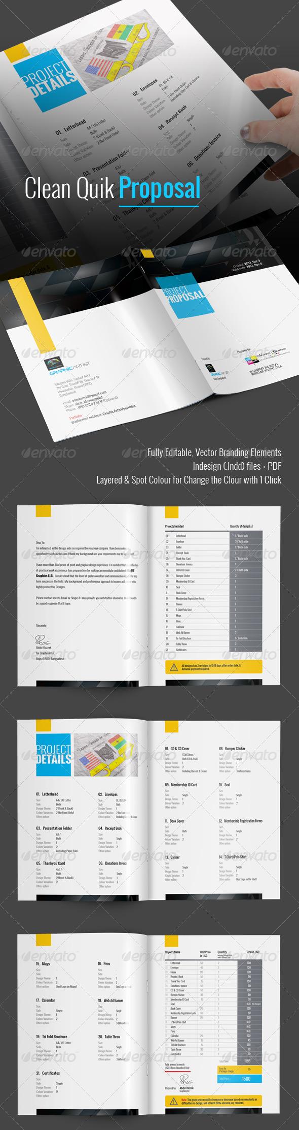 GraphicRiver Clean Quik Proposal 6845116