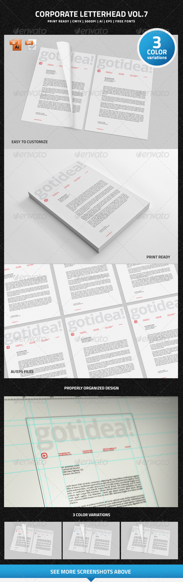 GraphicRiver Corporate Letterhead vol.7 6826570
