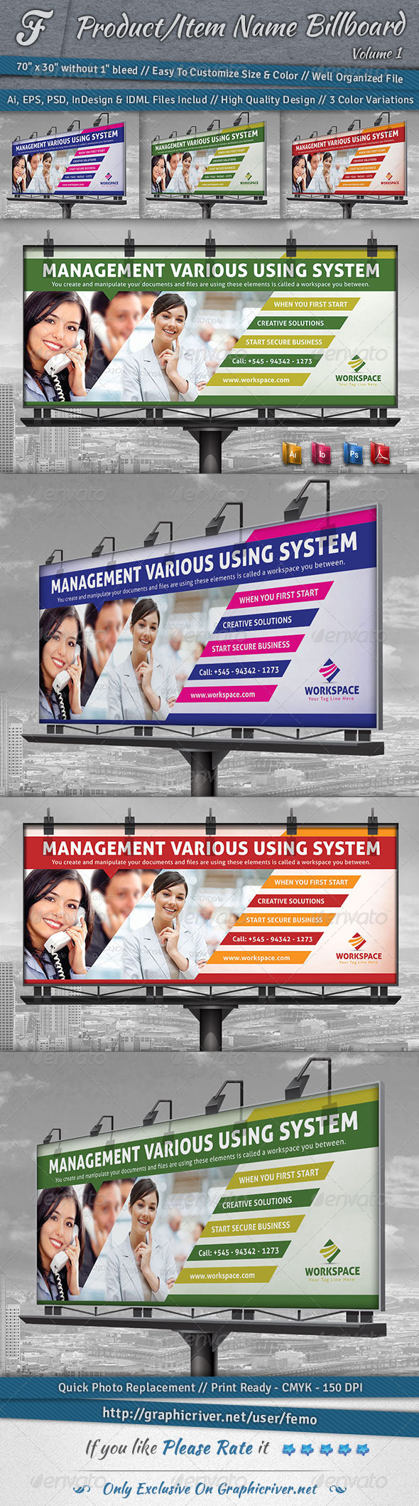GraphicRiver Workspace Billboard 6845326