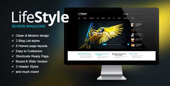 Life Style is a News, Magazine and Blog Theme with a clean modern design and big functional options! This template has emphasis on content and different elemen