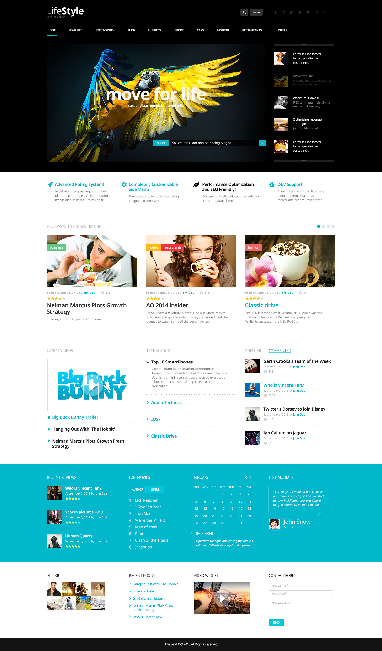Life style news magazine reviews psd theme by themerex for Home style subscription