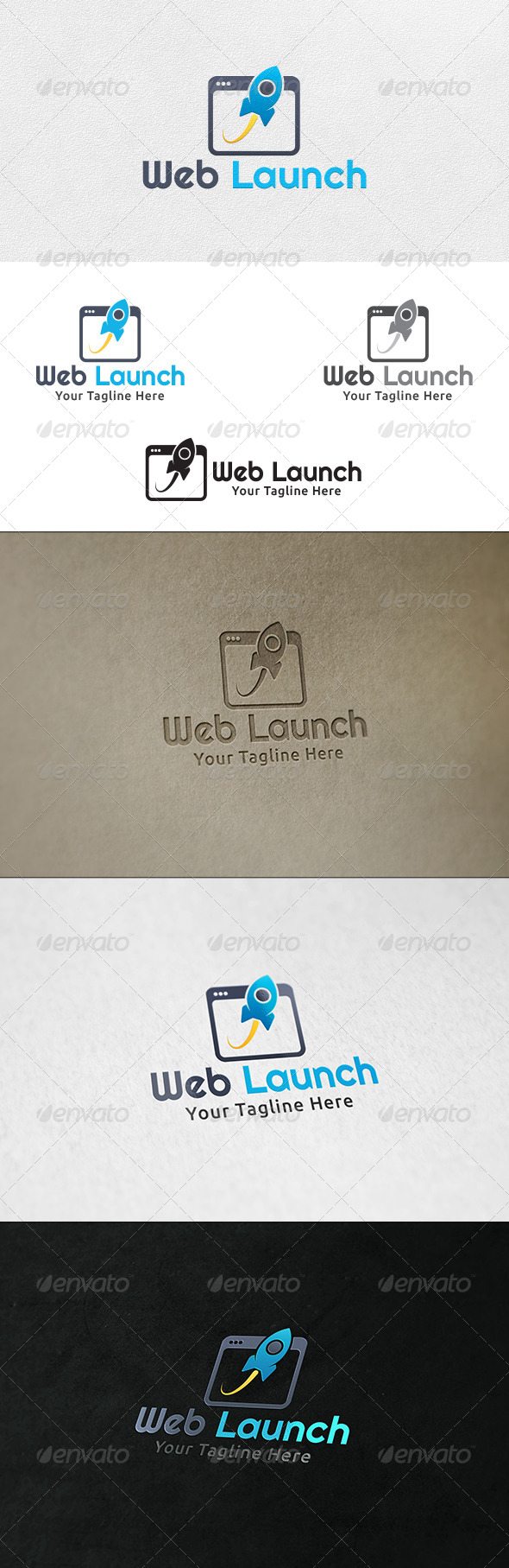 GraphicRiver Web Launch Logo Template 6845354