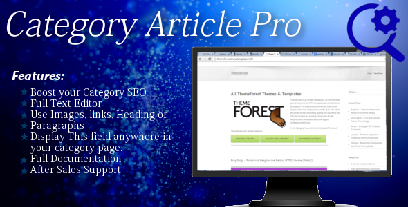 CodeCanyon Category Article Pro 6845628