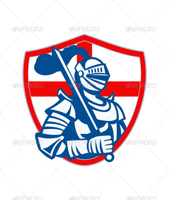 GraphicRiver English Knight Holding Sword 6845668