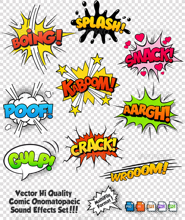 GraphicRiver Comic Sound Effects 6826861