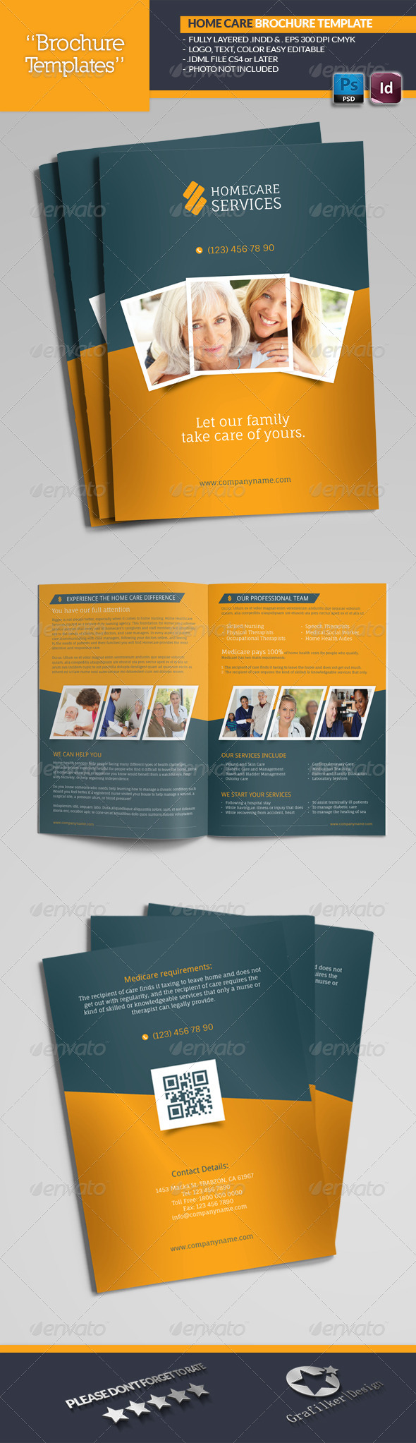 GraphicRiver Home Care Brochure Templates 6827129