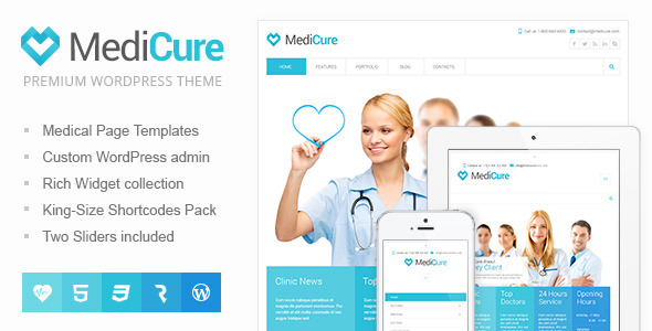 MediCure - Health & Medical Wordpress Theme