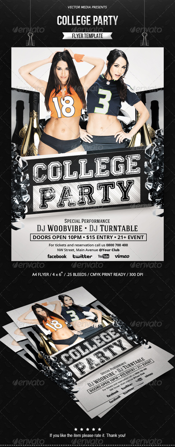 college party flyer graphicriver