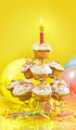 Lots of cupcakes on yellow background - PhotoDune Item for Sale
