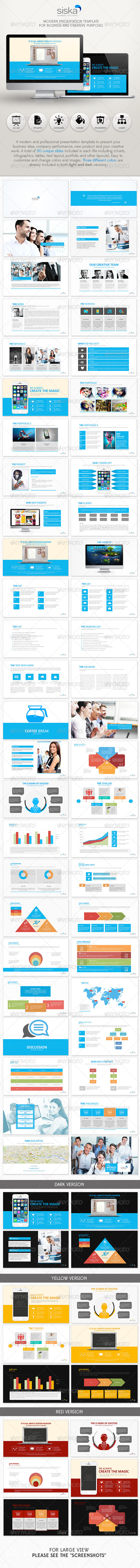 GraphicRiver Siska Powerpoint Presentation Template 6840020