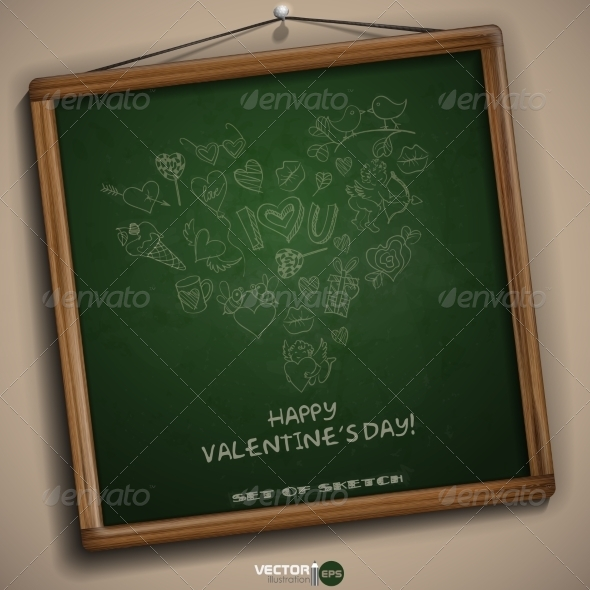 GraphicRiver Valentines Day Symbol s 6847871