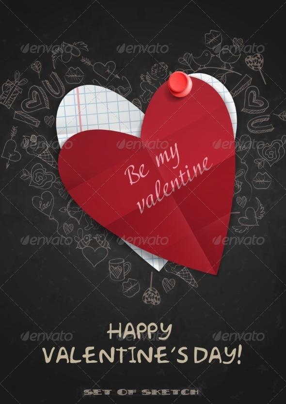 GraphicRiver Valentines Day Symbol s 6847873