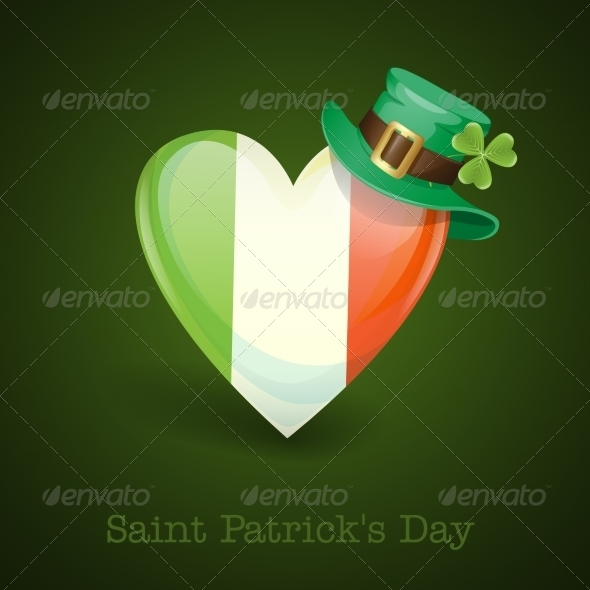 GraphicRiver Irish Flag in the Shape of a Heart 6847896