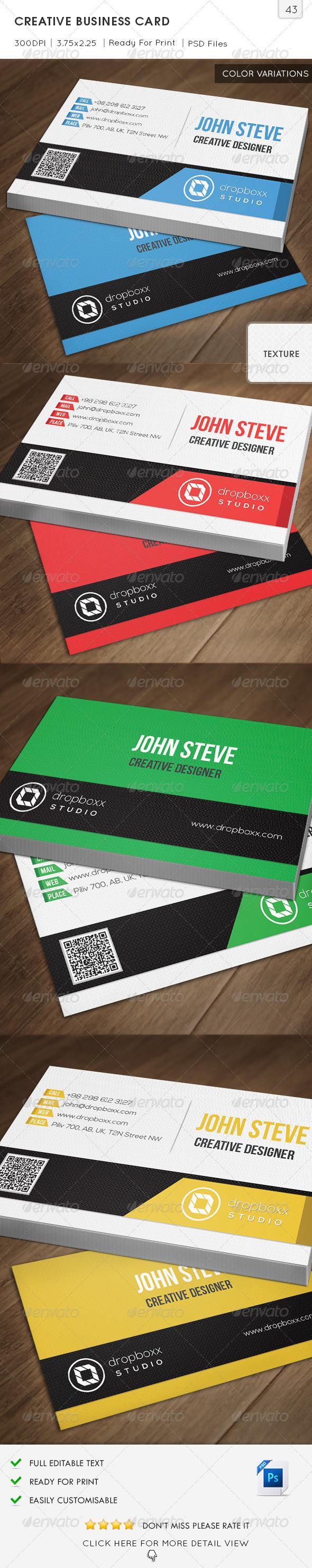 GraphicRiver Creative Business Card v43 6847900