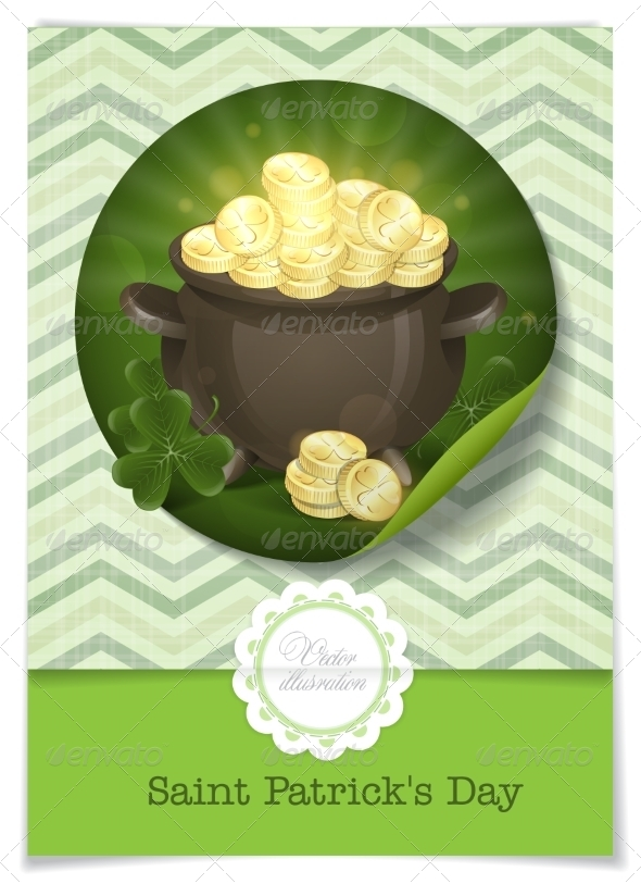 GraphicRiver St Patrick s Day Pot of Gold 6847901