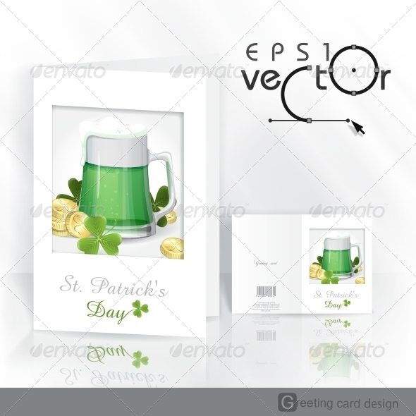 GraphicRiver Mug of Green Beer for St Patrick s Day 6847908
