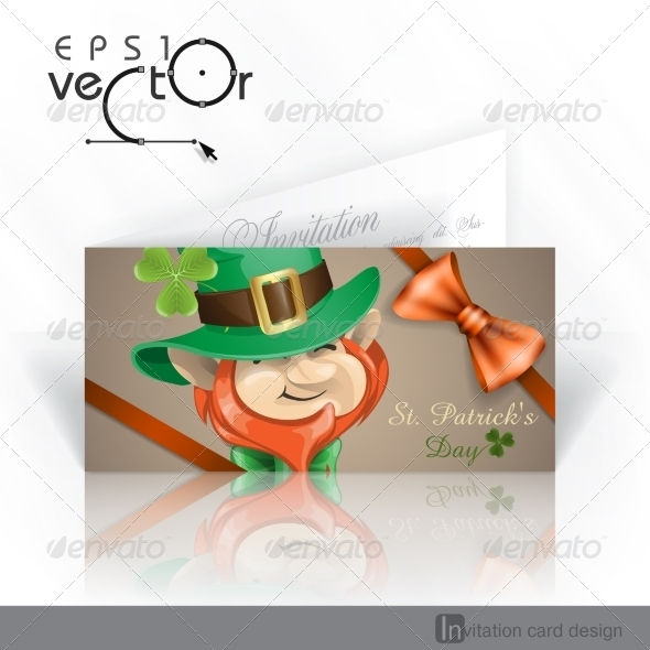 GraphicRiver St Patrick s Day Leprechaun Face 6847962