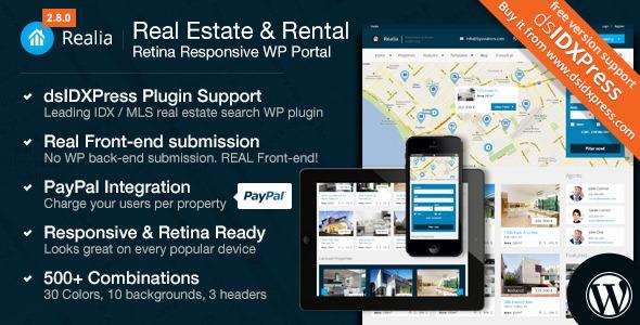 Realia - Responsive Real Estate WordPress Theme v.2.8.2