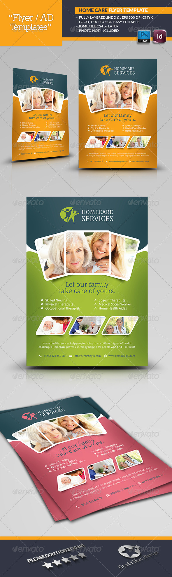 GraphicRiver Home Care Flyer Templates 6848152