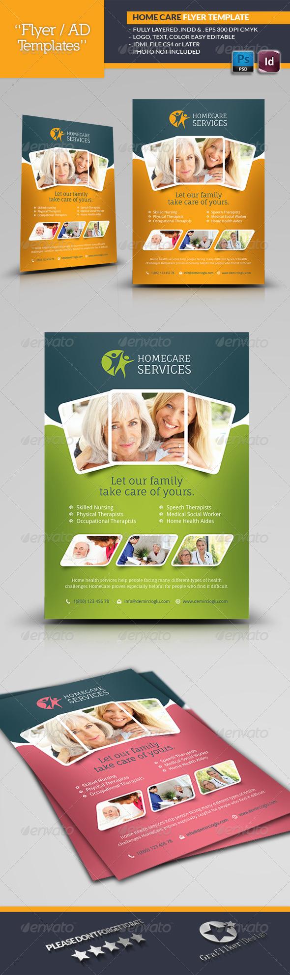 GraphicRiver Home Care Flyer Templates 6848152
