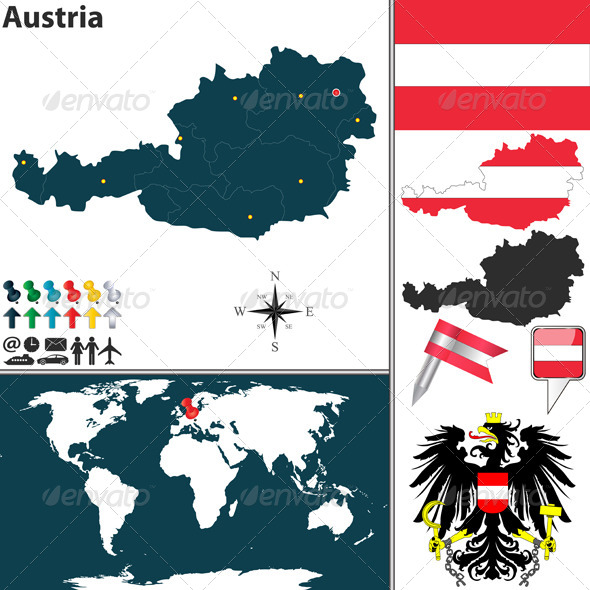 GraphicRiver Map of Austria 6848295