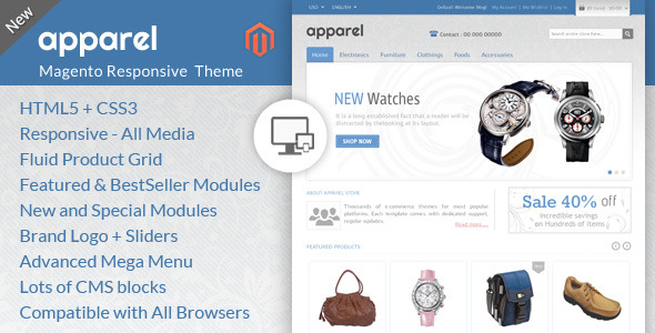 Apparel and Clothes - Magento Responsive Theme
