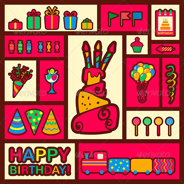 GraphicRiver Happy Birthday Background Greeting Card 6848822
