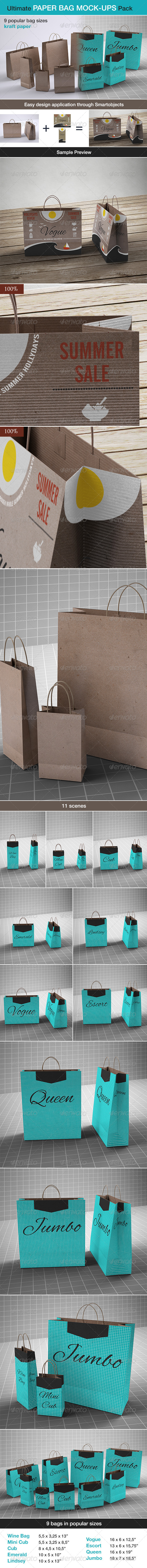 GraphicRiver Shopping Paper Bag Mock-up 6848875