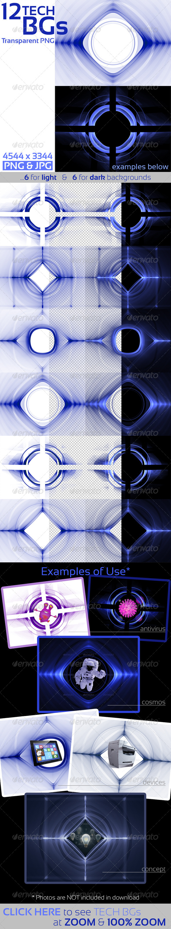 GraphicRiver Tech Templates on Transparent Background 6848899