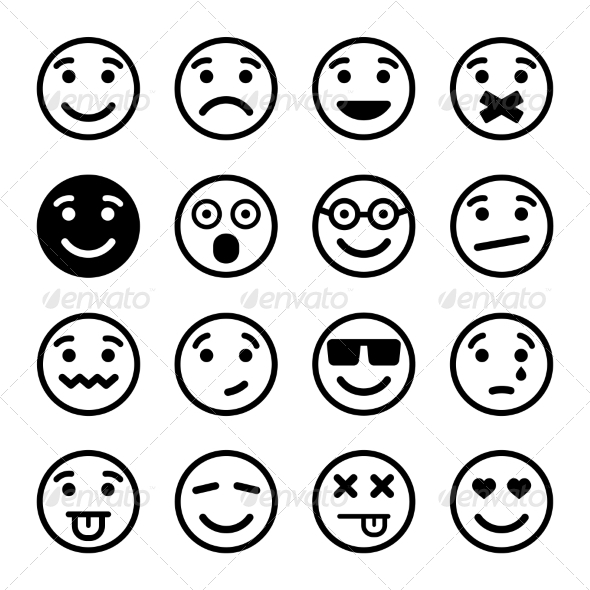 GraphicRiver Smiley Faces Set 6849218