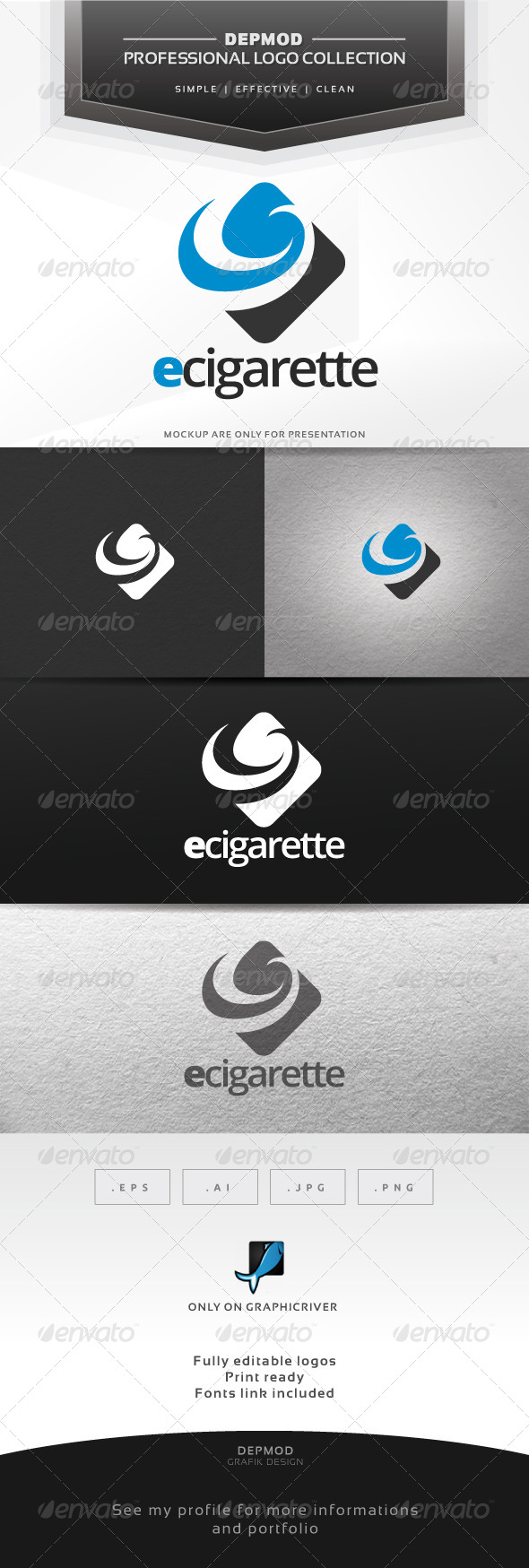 GraphicRiver e-Cigarette Logo 6849263