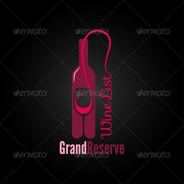 GraphicRiver Wine Glass Bottle Design Menu Background 6849762