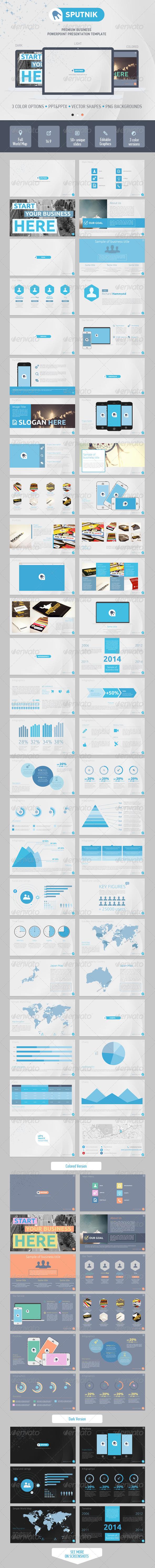 GraphicRiver Sputnik PowerPoint Presentation Template 6849783